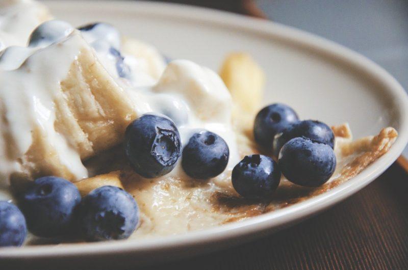 Puszyste amerykańskie naleśniki pancakes z USA