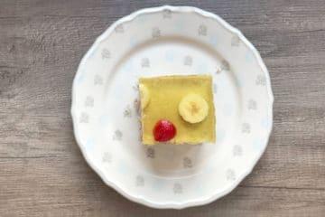 Bananowiec ciasto bananowe z galaretką