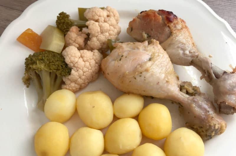 Pieczone podudzia kurczaka miodowo - musztardowe