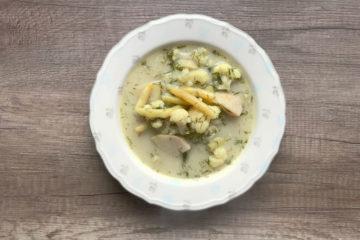Zupa koperkowa z kalafiorem i kalarepą