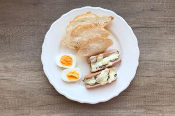 Śniadaniowe parówki serdelki nadziewane serem