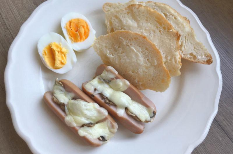 Parówki nadziewane serem mozzarella i pieczarkami