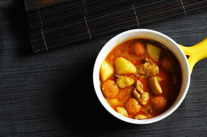 Dyniowe curry z kawałkami kurczaka