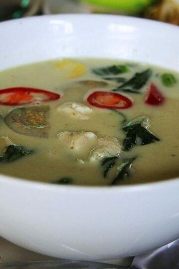 Tajskie zielone curry z krewetkami