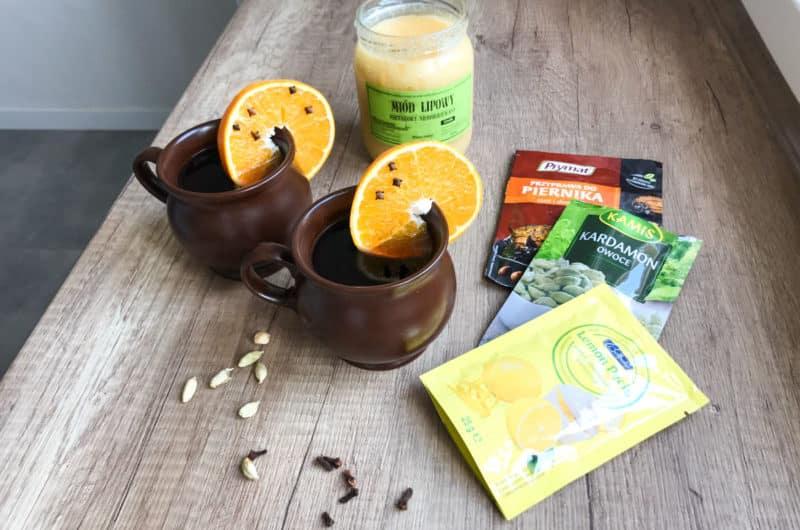 Domowy grzaniec z pomarańczami