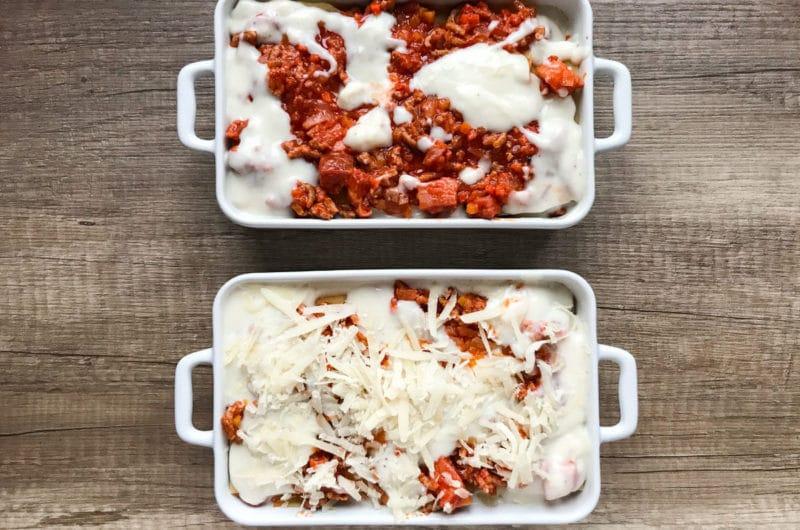 Lasagne z mięsem mielonym jednoporcjowe