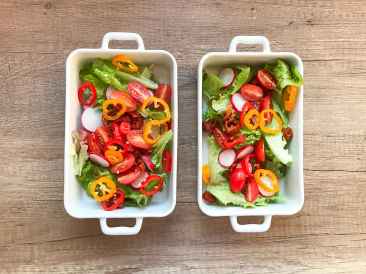 Sałatka ze świeżych warzyw z ziołowym vinegret