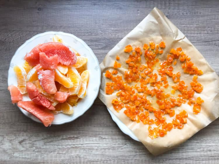 Kandyzowana skórka pomarańczowa na pączki