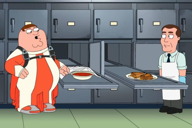 Zupa Pomidorowa z tostami z serem z serialu Family Guy