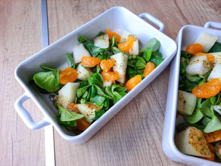 Sałatka z rukolą, mandarynką i melonem