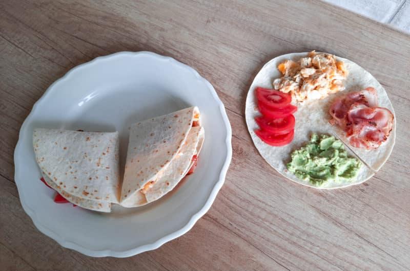Składane tortille śniadaniowe z TikToka