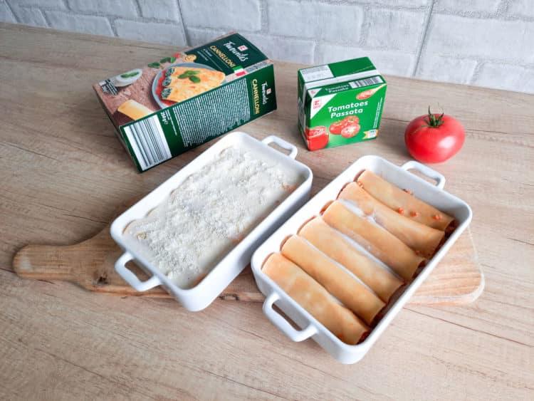 Cannelloni z sosem bolońskim i beszamelem