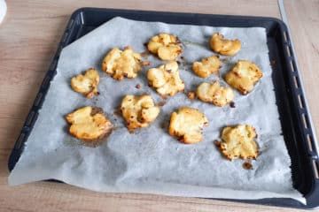 Pieczone rozgniecione ziemniak