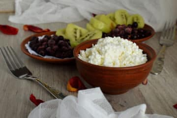 Makaron z serem białym na słodko