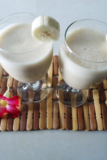 Śniadaniowy shake bananowy na zimno